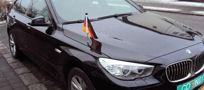 Premium Autofahnen Diplomat Flags
